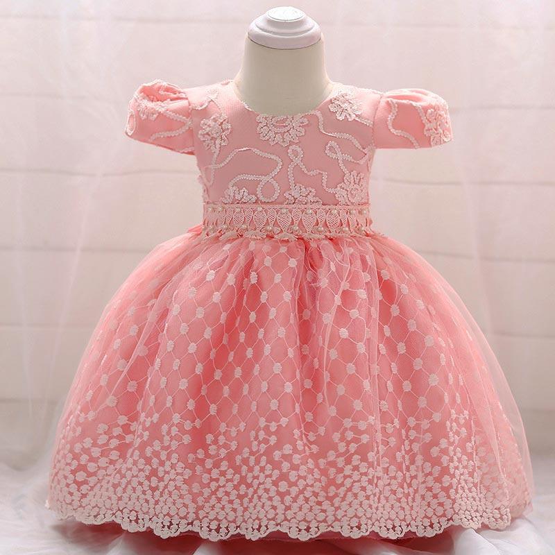 Rochiță Pentru Botez Roz Cu Voal Haine Pentru Botez
