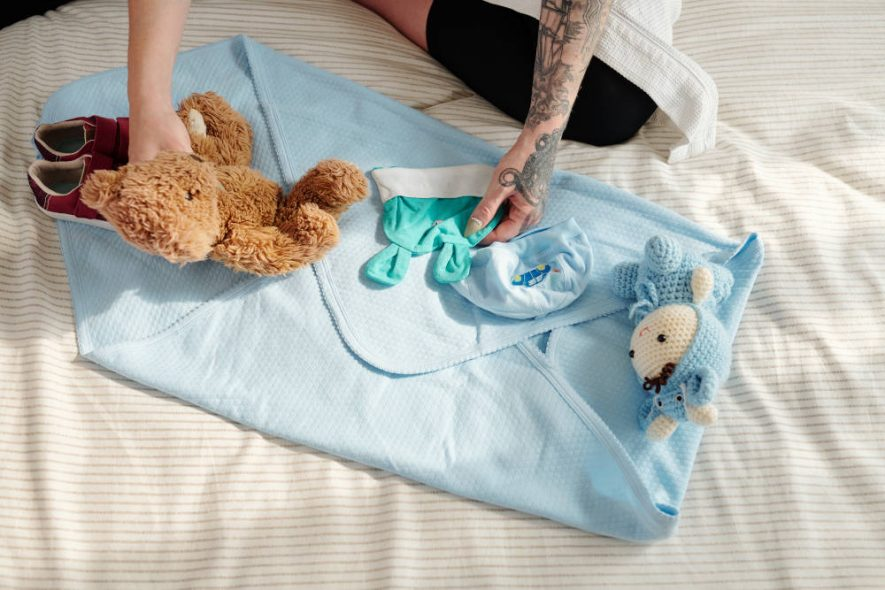 Păturica de la botez copil mic